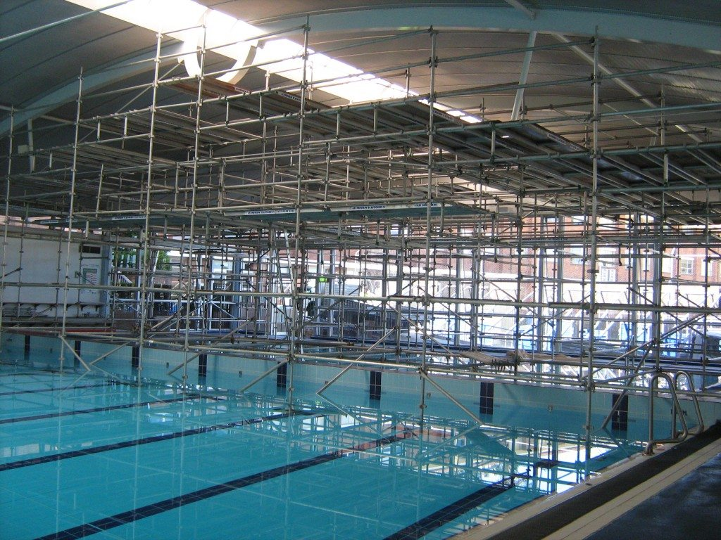 Barker College Scaffolding Over Swimming Pool